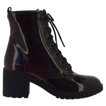 Ankle Boot Motorcycle Pull Up Bordo - DiCristalli