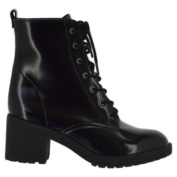 Ankle Boot Motorcycle Box Preto - DiCristalli