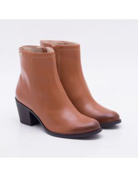 Ankle Boot Couro Camel - Dumond
