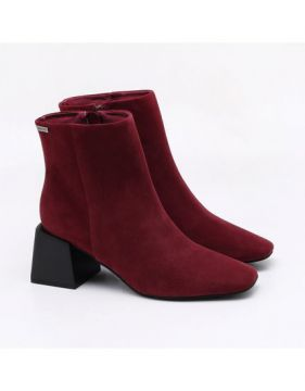 Ankle Boot Nobuck Burgundy - Dumond
