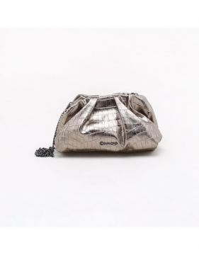 Bolsa Clutch Croco Pewter - Dumond