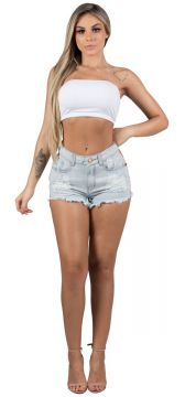 Short Jeans Bordado Lateral Maria Gueixa
