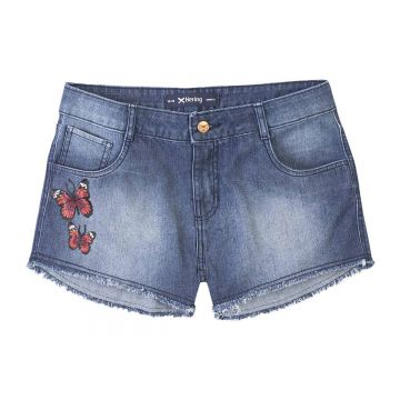 Short Summer Jeans Feminino Hering Com Patches - Hering