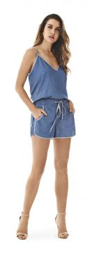 Short Boxer Vies Avesso Jeans - Morena Rosa