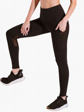 Calça Legging Bolso Lateral Blackout - Body For Sure