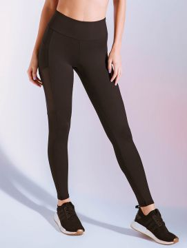 Calça Legging Com Recortes Contrastantes Active - Body For S