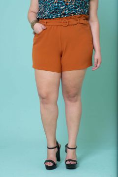 Short Plus Size Crepe Clochard