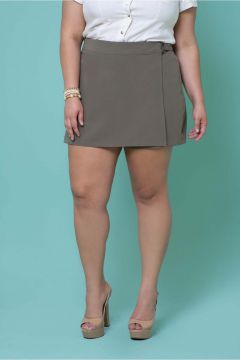 Short Saia Plus Size Brusque