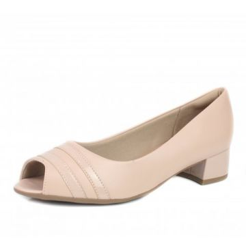 Sapato Piccadilly Peep Toe Nude Rose