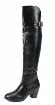 Bota Mooncity Over The Knee Preto