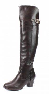 Bota Mooncity Over The Knee Marrom