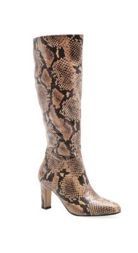 Bota Feminina Long Boot - Couro New Python Avelã - Corello