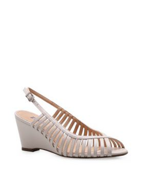 Peep Toe Strappy - Couro Off White - Corello
