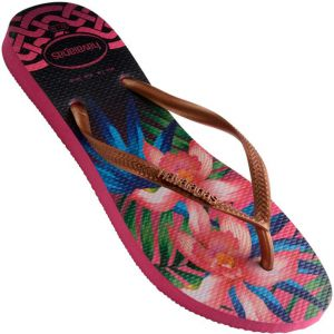 Chinelo Havaianas Slim Tropical Feminino Cobre / Rosa