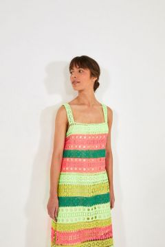Vestido Patchwork Renda Colorida - Farm