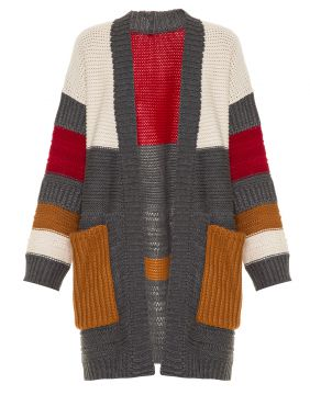 Cardigan Tricot Mathew Grey Framed