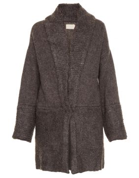 Cardigan Tricot Fluffy Grey Cris Barros