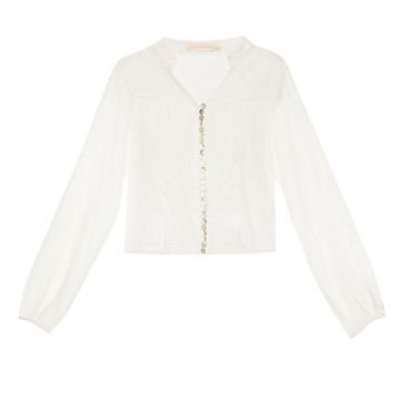 Camisa Cropped Sergipe Off White Cris Barros