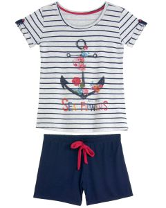 Short Doll Any Any Navy Flores Viscolycra
