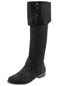 Bota Feminina Over Knee Preto/Camurça Mooncity - 75118