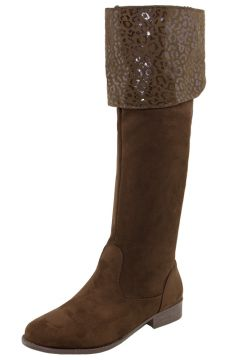 Bota Feminina Over Knee Marrom Mooncity - 75118