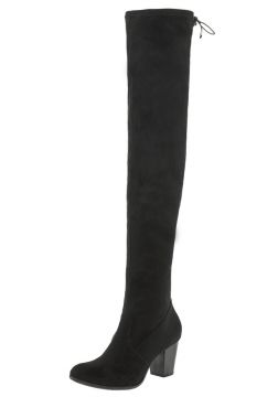 Bota Feminina Over The Knee Preta Via Marte - 171006