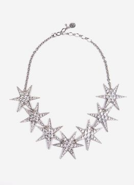 MEGA STAR NECKLACE-SILVER-UN LE LIS BLANC