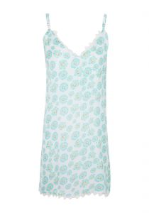 Vestido slip dress floral - verde