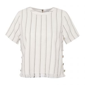 Blusa cropped Bianca - off white