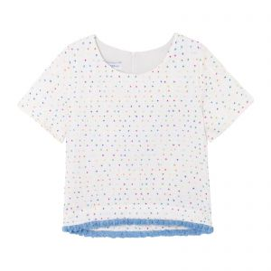 Blusa cropped Napoli - off white