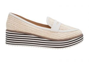 Mocassim flatform strip natural