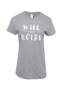 T-shirt will over noise - cinza