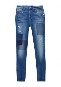 Calça jeans the ankle skinny light patched