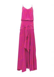 Vestido longo seda corais Party Collection - pink