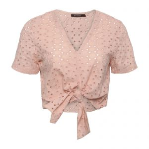 Blusa cropped laise nó - rose