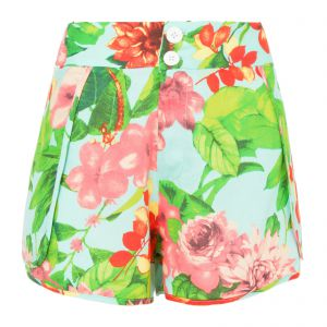 Short boxer sweet floral - azul