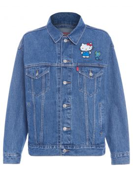 Jaqueta Jeans Trucker Dad Hello Kitty - Azul - Levis Womens