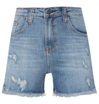 Short Jeans Destroyed Mob - Azul