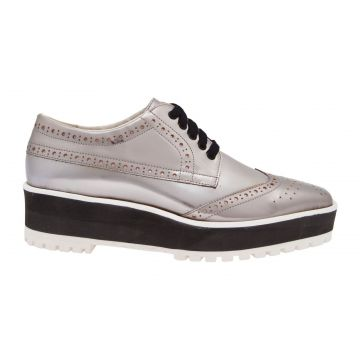 Oxford Flatform Silver - Prata - Vinci Shoes