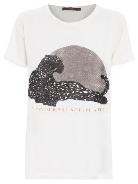 T-shirt Panther - Branco - Animale