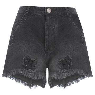 Short Overboy Rasgos - Preto - Animale Jeans