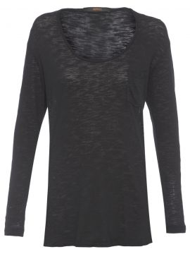 Blusa Longa Basic - Preto - Animale
