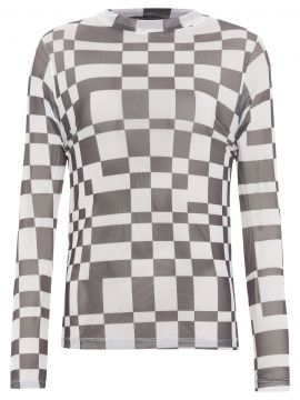Blusa Tule Mini Chess - Off White - Fyi
