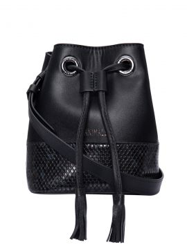 Bolsa Bucket Snake Color - Preto - Animale