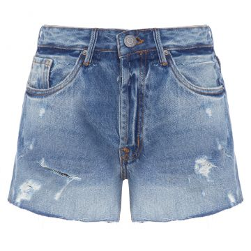 Short Box Basic Rasgos - Azul - Animale Jeans