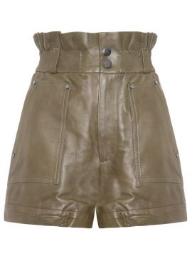 Short De Couro Clochard - Verde - Animale