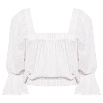 Blusa Cropped Laise - Off White - Canal