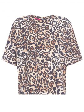 Blusa Cropped - Animal Print - Canal
