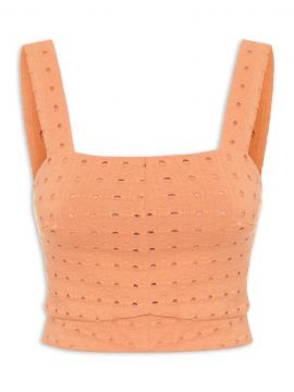 Top Cropped Laise - Laranja - Vi And Co.