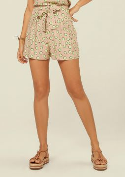 Short Clochard Estampado -  bege  - DZARM